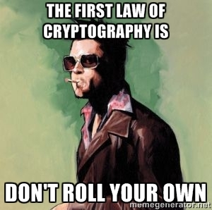 Roll your own crypto